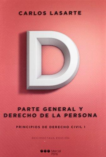 9788497683180: PRINCIPIOS DE DERECHO CIVIL I : PARTE GRAL Y DERECHO DE LA PERSONA 18º ed.