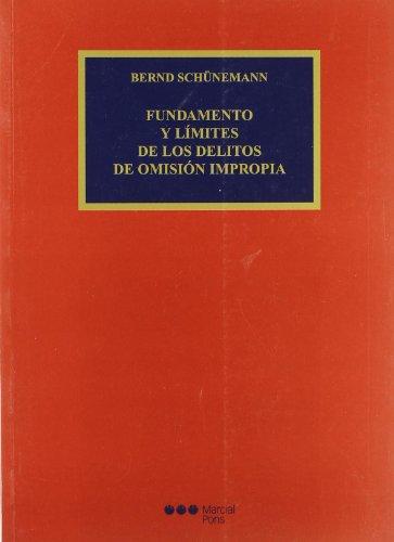 Fundamentos y límites de los delitos de: Cuello Contreras, Joaquín;