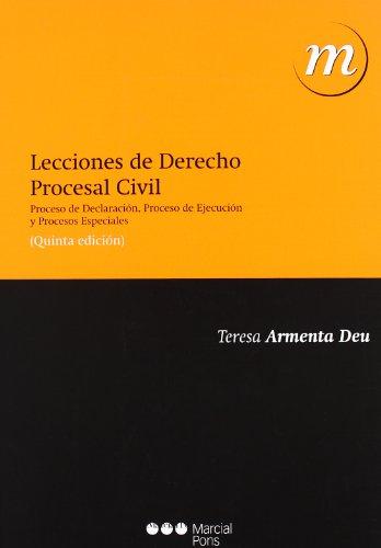 9788497687959: LECCIONES DE DERECHO PROCESAL CIVIL (5ª ED. 2010)