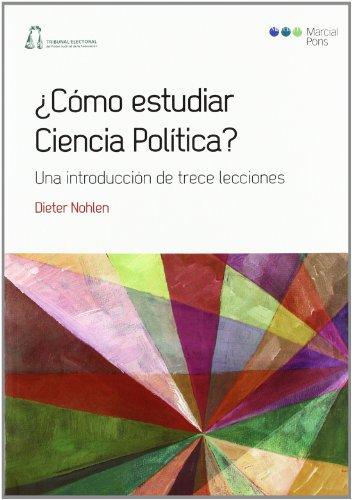 9788497688901: ¿Cómo estudiar Ciencia Política?: Una introducción de trece lecciones