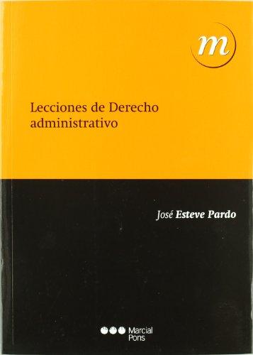 9788497689007: Lecciones de derecho administrativo