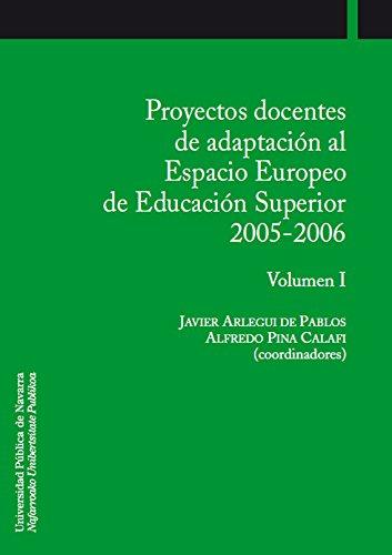 PROYECTOS DOCENTES DE ADAPTACIÓN AL ESPACIO EUROPEO: ARLEGUI DE PABLOS,