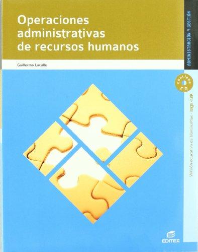 9788497719582: Operaciones administrativas de recursos humanos