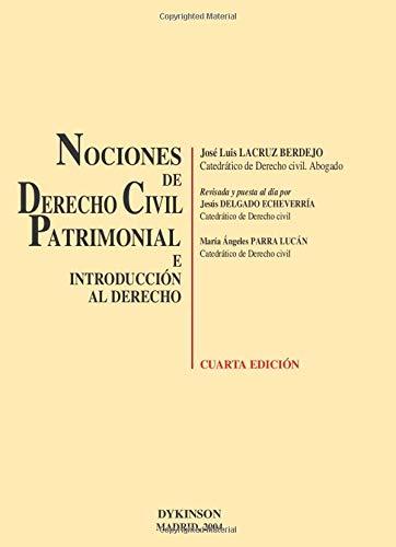 9788497723251: Nociones De Derecho Civil Patrimonial E Introducción Al Derecho