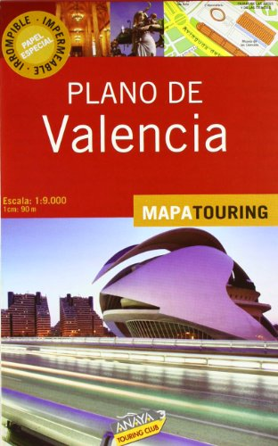 9788497768337: Plano de Valencia / Map of Valencia: Escala: 1:9.000 1cm: 90m (Spanish Edition)