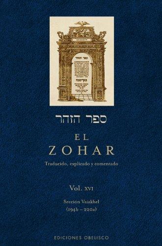 9788497779197: El Zohar XVI (Spanish Edition)