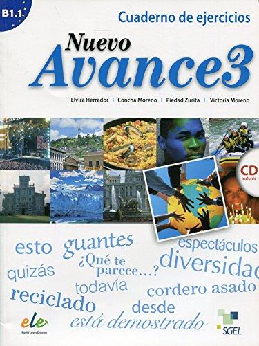 9788497786713: Nuevo Avance 3 Exercises Book + CD B1.1 (Spanish Edition)