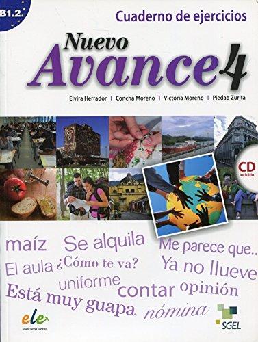 NUEVO AVANCE 4 Cuaderno de ejercicios+CD: Herrador, Elvira y Moreno, Concha y Victoria Moreno, ...