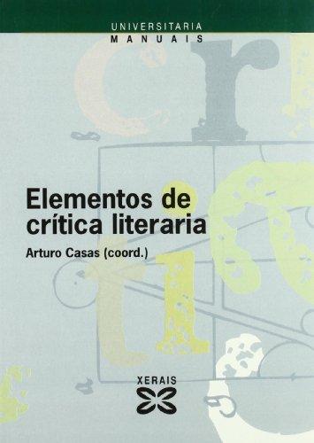 Elementos de crítica literaria: Casas, Arturo (Coor.);