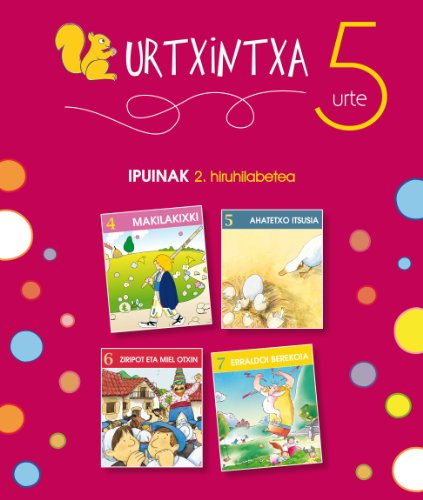 9788497839938: Urtxintxa 5 urte. 2. hiruhilabeteko ipuinak (4-8)
