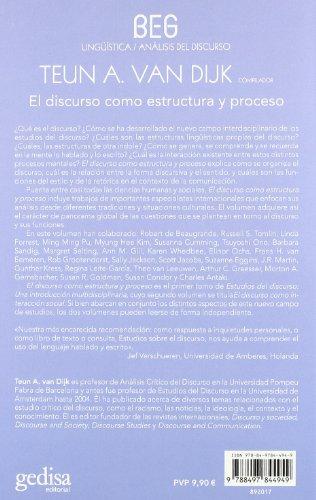 9788497844949: El discurso como estructura y proceso. Estudios sobre el discurso I: una introduccion multidisciplinaria (Spanish Edition)