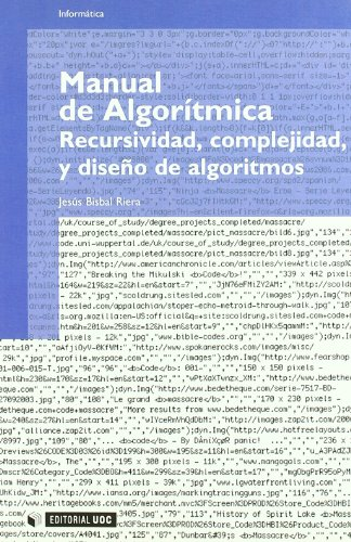9788497880275: Manual de algorítmica: recursividad, complejidad, y diseño de algoritmos