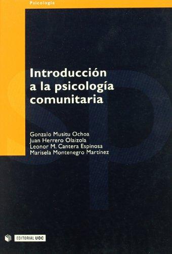 9788497881234: Introduccion a la pisicologia comunitaria: 28 (Psicologia / Psychology)