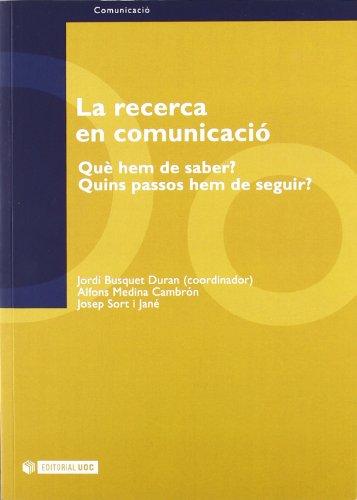 La recerca en comunicació : què hem: Jordi Busquet, Alfons
