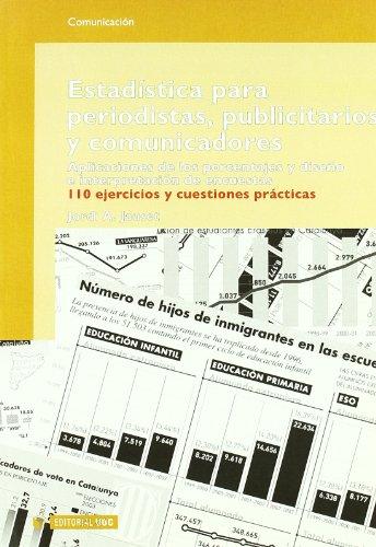 9788497885898: Estadística para periodistas, publicitarios y comunicadores (Manuales)