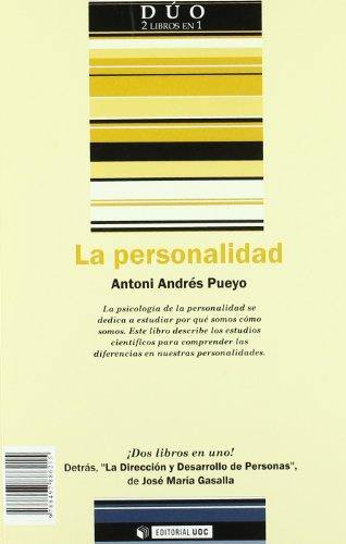 9788497886215: LA DIRECCIÓN Y DESARROLLO DE PERSONAS; LA PERSONALIDAD