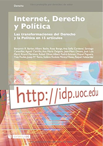 Internet, Derecho y Política (Spanish Edition) (8497887891) by R., Benjamin