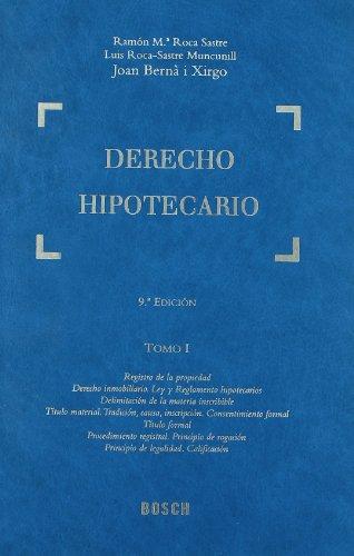 Derecho hipotecario.(VOLS.1-5).(9ªED) - Vv.Aa.