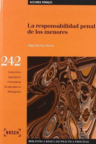9788497903370: La responsabilidad penal de los menores