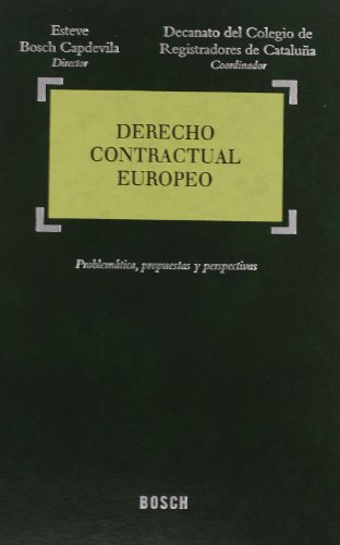 Derecho contractual europeo: Vendrell Cervantes, Carles;