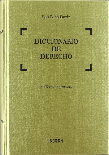 9788497908689: Diccionario de Derecho: 4.ª Edición