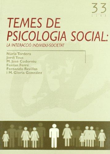 9788497911351: (CAT).TEMES DE PSICOLOGIA SOCIAL (EINA)