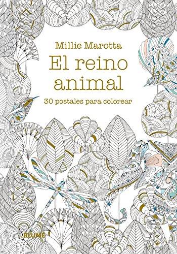 9788498019148: Postales. El reino animal.: 30 postales para colorear ...