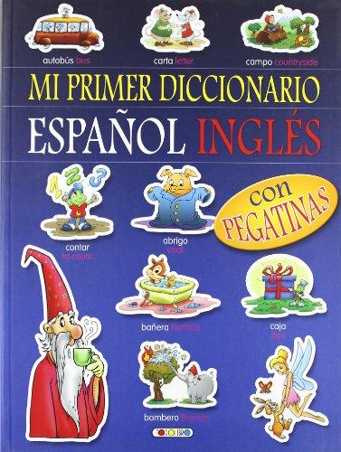 9788498069440: Diccionario español-inglés (azul) (Mi primer diccionario de pegatinas)