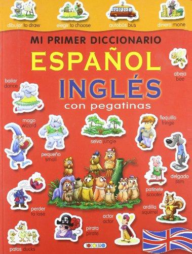 9788498069457: Diccionario español-inglés (rojo) (Mi primer diccionario de pegatinas)