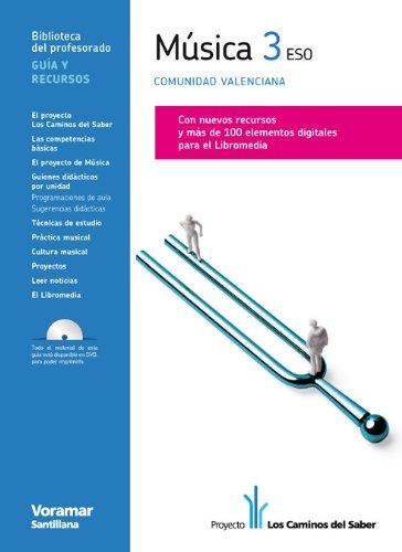 9788498074956: Guia Música 3 Eso Comunidad Valenciana los Caminos Del Saber Castellano Voramar