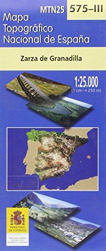 575-III).Mapa topográfico Zarza de Granadilla (1:25.000)
