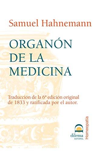 ORGANON DE LA MEDICINA: HAHNEMANN, Samuel