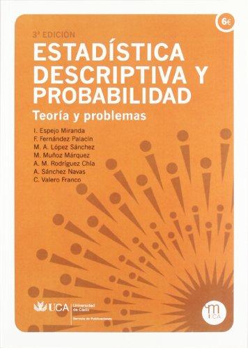 Estadística descriptiva y probabilidad: Espejo Miranda, Inmaculada/Fernández
