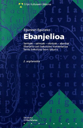 9788498300635: Egunean Eguneko Ebanjelioa (Erlijio Kulturaren Bilduma)