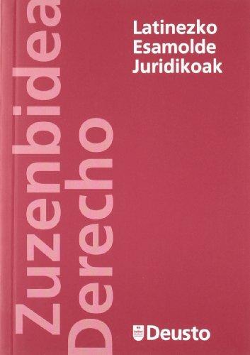 9788498303490: Latinezko Esamolde Juridikoak (Derecho Serie Minor)
