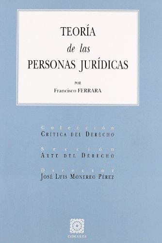 9788498360301: Teoría de las personas jurídicas