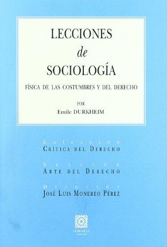 9788498360608: LECCIONES DE SOCILOGIA