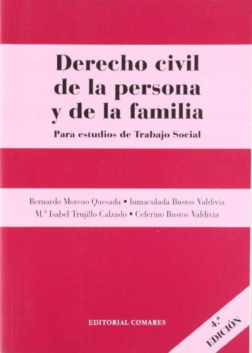 9788498361322: Derecho civil de la persona y de la familia (4ª ed.)