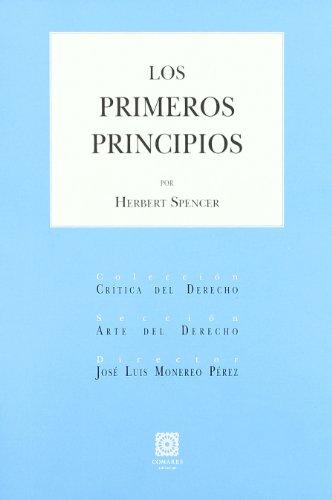 9788498364705: Primeros Principios, Los
