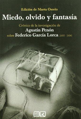 9788498365009: MIEDO OLVIDO Y FANTASIA