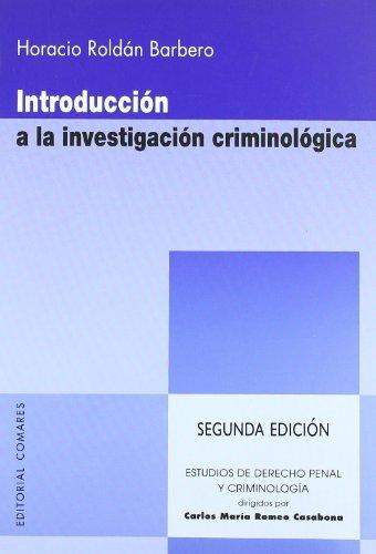 9788498365078: Introducción a la investigación criminológica