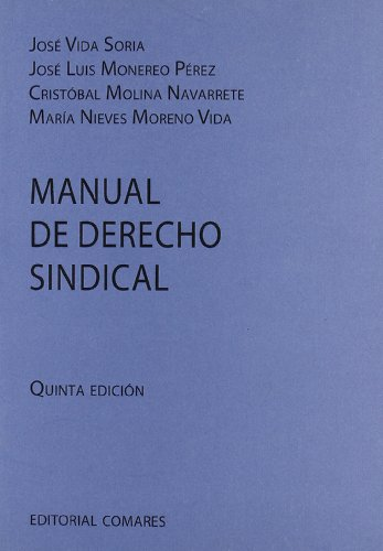 9788498367386: Manual de derecho sindical (5ª ed.):