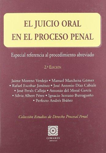 9788498367492: EL JUICIO ORAL EN EL PROCESO PENAL