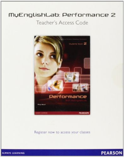 9788498376852: Performance 2 MyEnglishLab Teacher's Access Code - 9788498376852