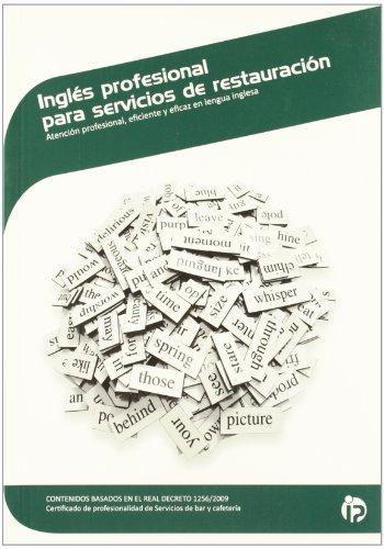 9788498393910: INGLES PROFESIONAL PARA SERVICIOS DE RESTAURACION