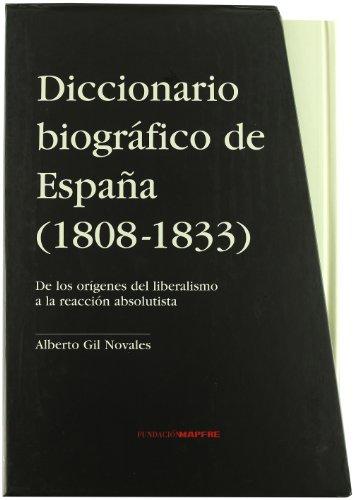 9788498442083: Diccionario biografico de espaía (1803-1833)