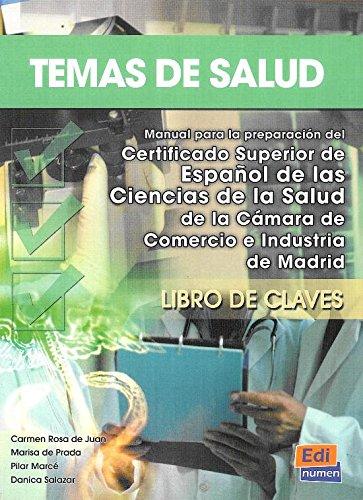 9788498480344: Temas de salud - Libro de claves