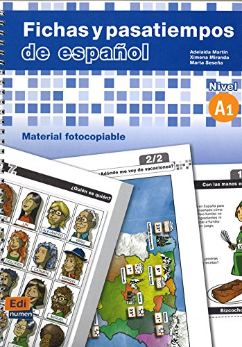 9788498480450: Fichas y pasatiempos de español (Material Complementario)
