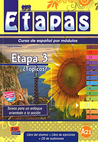 Etapas: Etapa 3 (A2) - Topicos? - Libro De Alumno/Ejercicios CD-Audio (Mixed media product)