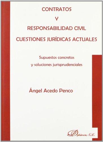 9788498490381: Contratos Y Responsabilidad Civil. Cuestiones Jurídicas Actuales